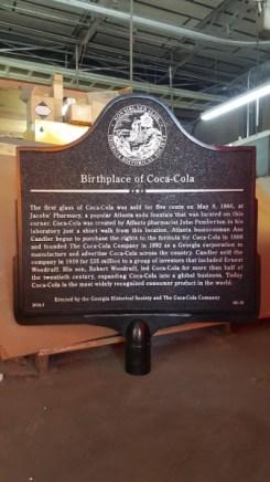 Birthplace of Coca cola
