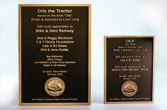 Otis Calf plaque