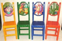 Equipal Furniture Equipale, Carved Painted Furniture