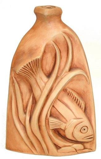 Ceramic Clay Vase 2 Sided Designs