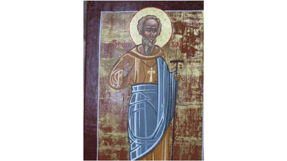 Icon of Saint David at Saint David's Cathedral, photo by Ken McIntosh