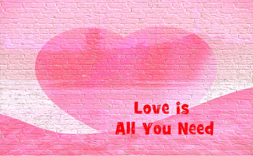 Love is all you need wall graffiti