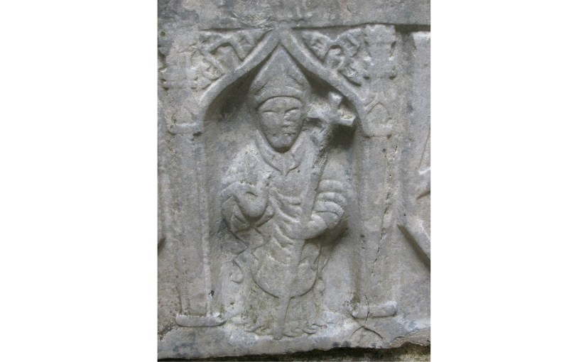 photo credit: Kenneth McIntosh, Medieval Sculpture of Saint Patrick at Rock of Cashel, the seat of Irish Christianity in the Middle Ages.