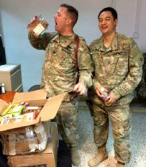 first care package at Camp Taji