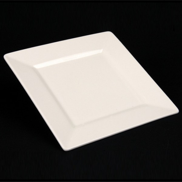 "WHITE CHINA SQUARE PLATE 7"""