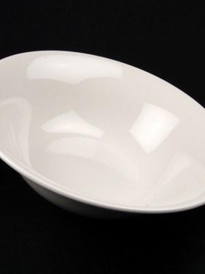 """WHITE CHINA SALAD BOWL 10"""" ROUND"""