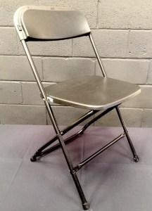 Black folding chair hire