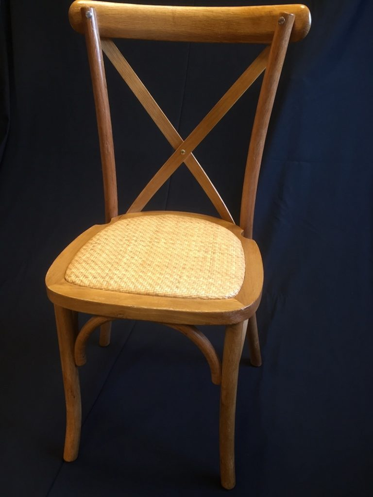 cross back chair hire 2