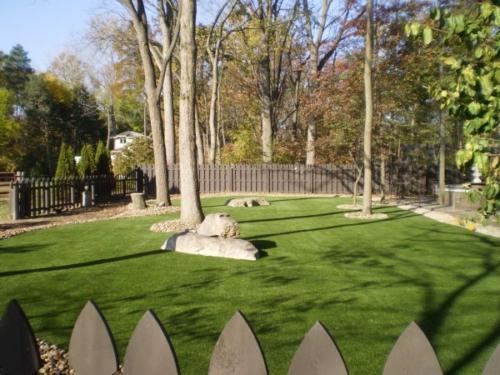 Artificial Lawn Backyard