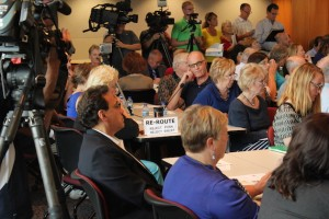 The public meeting on Thursday included many critical of Southwest light rail, but they appeared to be outnumbered by supporters.