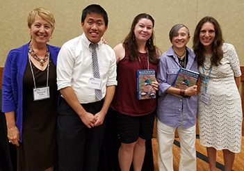 (L-R) SOHA president Marcia Gallo, General Scholarship winner Richard Ly, Eva Tulene-Watt awardees Rachael Cassidy and Diana (Midge) Dellinger, and SOHA officer Farina King