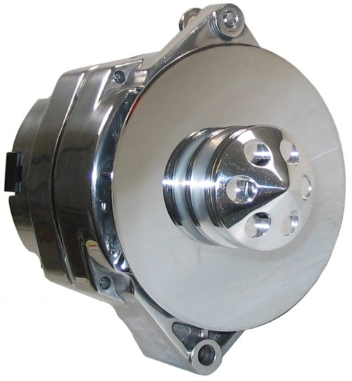 small resolution of details about powermaster alternator polished 12si 140amp 67294 w baffle cone wire buick gm