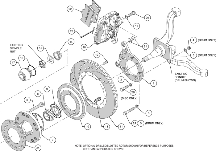 WILWOOD DISC BRAKE KIT,70-73 FORD,MERCURY,11
