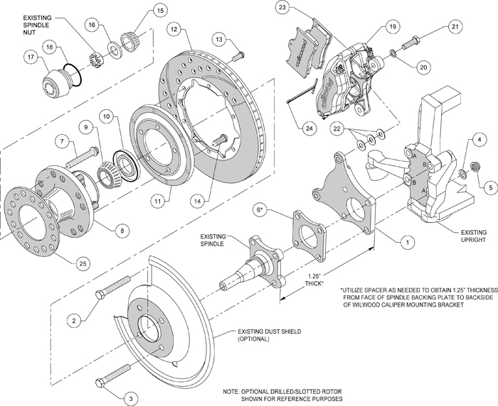 WILWOOD DISC BRAKE KIT,71-74 AMC JAVELIN,11