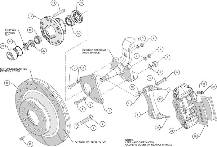 WILWOOD DISC BRAKE KIT,70-72 CDP B&E-BODY W/DRUMS,13
