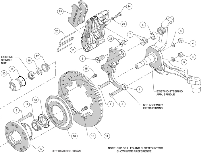 WILWOOD DISC BRAKE KIT,69-70 IMPALA,12