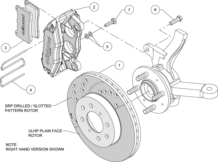 WILWOOD DISC BRAKE KIT,FRONT STOCK REPLACEMENT,HONDA