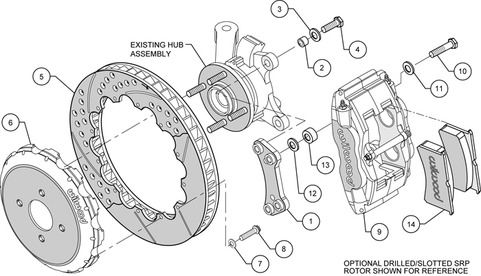 WILWOOD DISC BRAKE KIT,FRONT,00-05 ECHO,04-06 SCION xA,xB