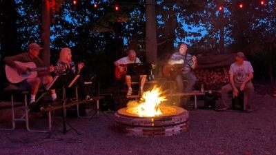 Playing music around a Campfire