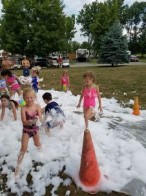 Foam Bath at end of Slip-n-Slide