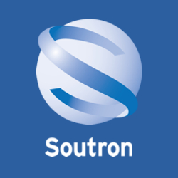 Soutron Logo Square on Blue