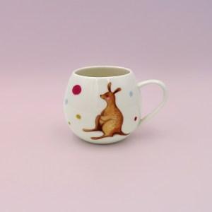 Barney Gumnut china mug. Hoppity Kangaroo is on this mug.