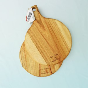 Two pizza wooden chopping boards