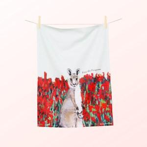 Kangaroo tea towel