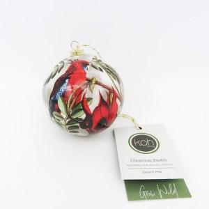 Crimson Rosella hanging bauble