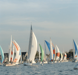 group of sail boats