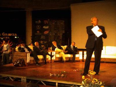 Daniele Piombi durante la presentazione