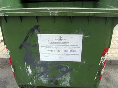 Cassonetto della spazzatura