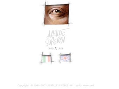 Screenshot della homepage di Achille Superbi