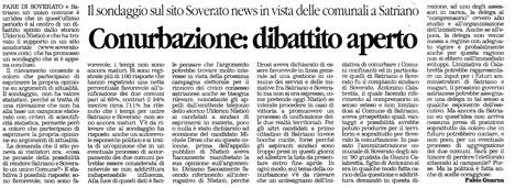 Articolo de Il Quotidiano della Calabria