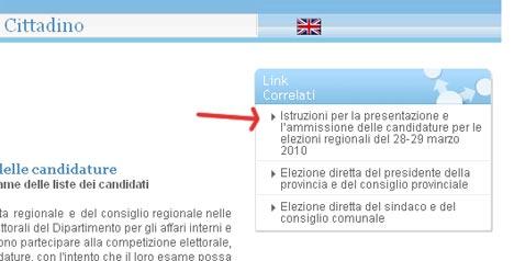 Istruzioni presentazione liste Elezioni Regionali 2010