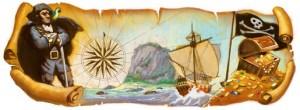 Doodle di Google per Robert Louis Stevenson
