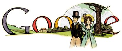 Jane Austen - Google Doodle