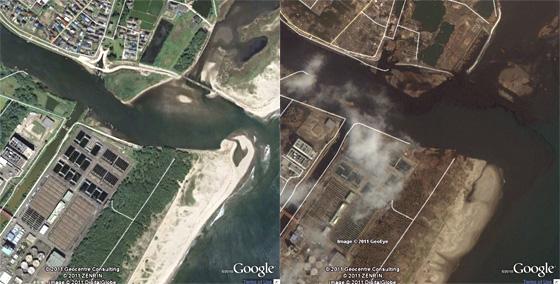 Sendai foto prima e dopo il maremoto
