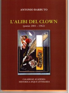 "Copertina ""L'alibi del clown"" di Antonio Barbuto"