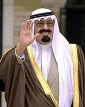 Re Abdullah dell'Arabia Saudita