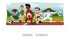 Google Doodle - Cerimonia  di apertura Olimpiadi