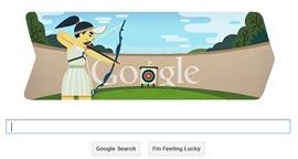 Google Doodle Londra 2012 - Tiro con l'arco