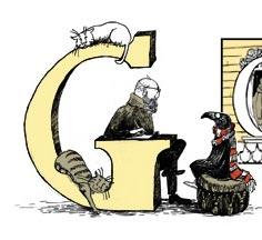 Iniziale Doodle - Edward Gorey