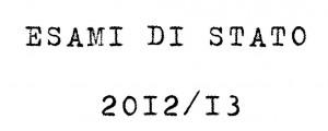 esami di stato 2012 13