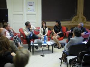 Un flash della presentazione. Al microfono Raffaele Gaetano e accanto Luana Fabiano