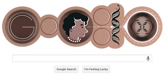 Google Doodle - Rosalind Franklin