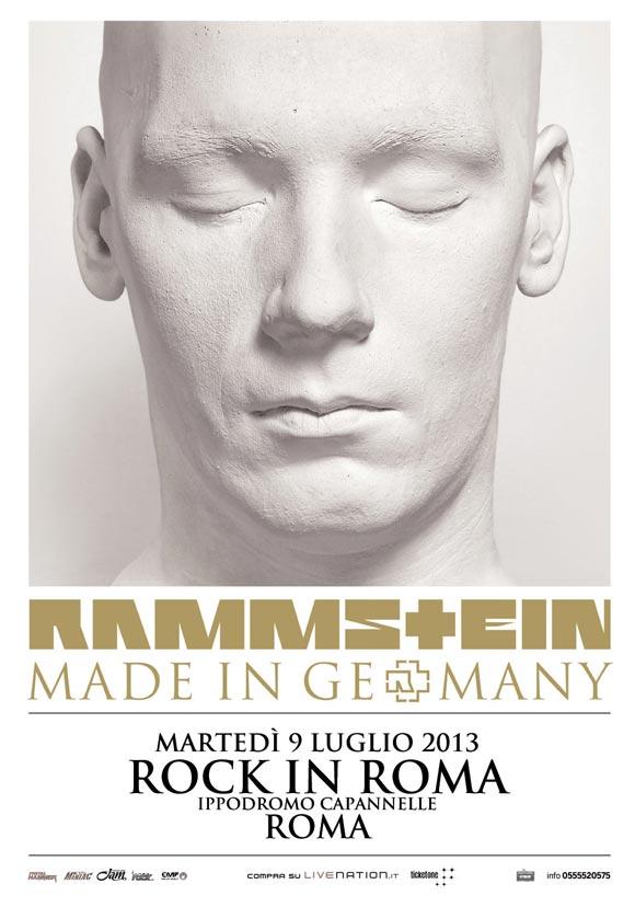 Rammstein - Locandina concerto roma 9 luglio 2013