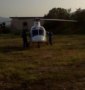 Elisoccorso atterrato a Montepaone Lido