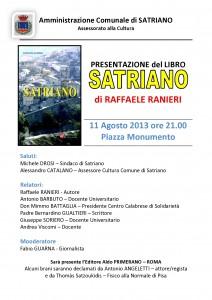 """Locandina presentazione """"Satriano"""" di Raffaele Ranieri"""