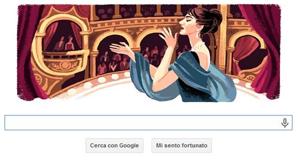 Google Doodle - Maria Callas